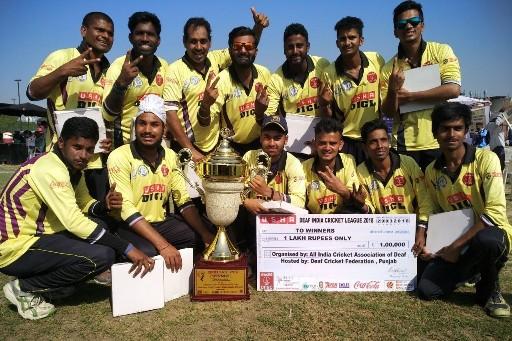 Team Chenab Xi Lifts Usha Deaf Indian Cricket League 2018